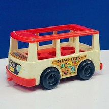 Fisher Price Little People vintage 1960s us antique toy figure mini bus car usa - $19.22