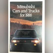 1986 Mitsubishi Cars and Trucks Sales Brochure Car Auto Advertising - $10.89