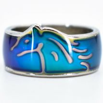 Running Horse Pony Shape Children's Color Changing Fashion Mood Ring image 3