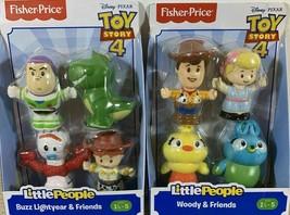 Fisher Price Little People Toy Story 4 Buzz Woody Jessie Rex Bo Ducky 8 Friends - $14.99