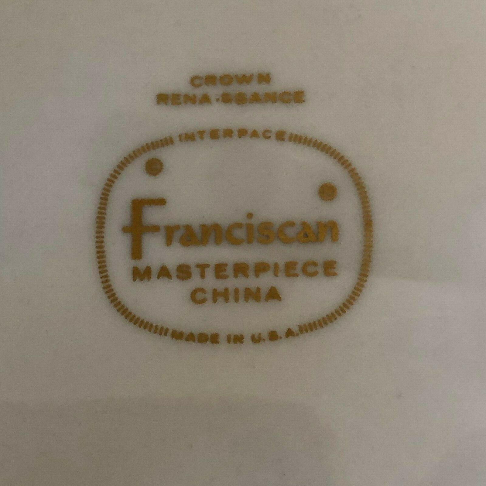Franciscan China CROWN RENAISSANCE Green, 44 Piece Set Service for 8