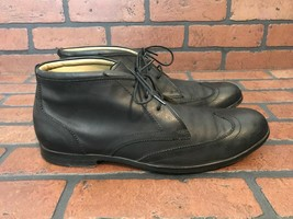 Cole Haan Ankle Wingtip Boots Black Leather Size 10 - $48.88