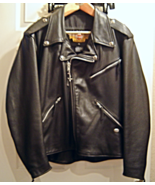 Harley Davidson Black Leather Classic Riding Biker Style Jacket Men's XL... - $299.99