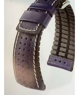 HIRSCH TIGER GOLF ACTIVE PERFORATED CALFSKIN 24MM WATCH BAND CAOUTCHOUC ... - $84.14