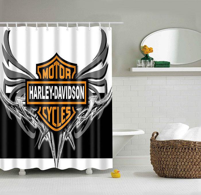 Harley Davidson Shower Curtain Logo Pattern And 50 Similar Items S L1600
