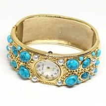 Vintage Women's Gruen Cuff Bracelet Quartz Gold Watch Wristwatch - $14.84