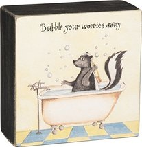 Primitives by Kathy Box Sign, Bubble Your Worries - $7.21