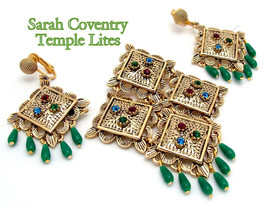 Sarah Coventry  Dangle Brooch Earrings Set TEMPLE LITES, Late 60s - €29,63 EUR