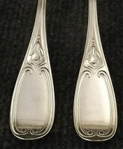 Rare Circa 1852 Rogers Tuscan Set of 8 Silver Plate Dinner Forks-166 Years Old! - $55.39