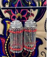 India Jaipur Retro Tassel Earring Jhumka Tribal Long Pendant Earring. BO... - $23.83