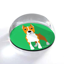 "Pinscher Cartoon Dog Illustration Art 2"" Crystal Dome Magnet or Paperweight - $15.99"