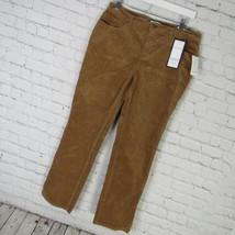 Charter Club Pants Womens 12P Brown Corduroy Lexington Straight MRSP $60... - $32.50