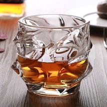2pcs Spin Wave Whiskey Shot Glass Whisky Tumbler Rum Scotch Spirit Glass... - $38.00