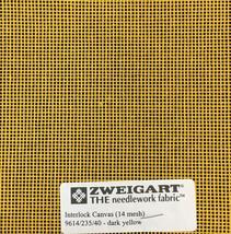 Interlock Needlepoint Canvas 14 Mesh Dark Yellow Custom Cuts  Blank Canvas  - $7.13+
