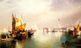 Splendor Venice Italy Painting By Thomas Moran Paper Repro Small - $9.90
