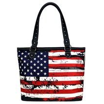 Montana West American Flag Canvas Tote image 1