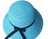 N hat 2019 floppy foldable ladies women straw beach sun summer hat beige wide brim thumb155 crop
