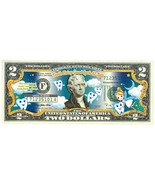 Tooth Fairy Genuine Colorized Two Dollar Bill Perfect Under Childs Pillow - $14.00