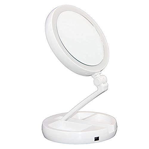 Floxite Mirror 6 Listings, Floxite 10x 1x Lighted Folding Vanity Travel Mirror