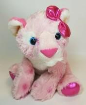 Girlz Pink White Tiger Plush Stuffed Animal Cat Girl Bow Aurora 11inch L... - $17.77