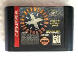 ☆ Revolution X (Sega Genesis 1994) AUTHENTIC Aerosmith Game Cart Tested ... - $6.50