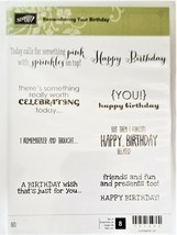 "Stampin' Up ""Remembering Your Birthday"" Stamp Set #131350 - $14.35"