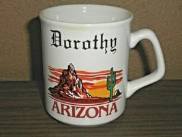 Arizona Desert Sunset Cactus Coffee Cup Has Name DOROTHY - $12.86