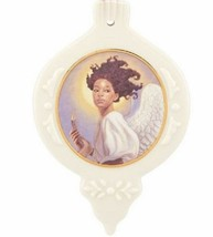 Thomas Blackshear Angel With Horn Ornament Preparing To Sound The Alarm NEW - $39.60