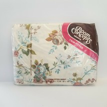 Vintage Bibb Room Concepts Floral Twin Fitted Sheet No Iron MCM Floral R... - $33.85