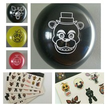 FNAF Five Nights At Freddy's Balloons & Stickers Lot of 29! - $6.16