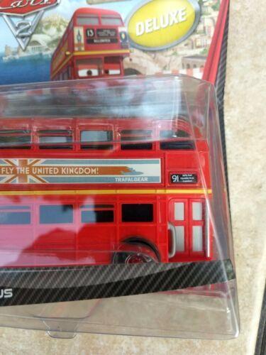 2010 Mattel sealed Disney Cars Pixar Double Decker Deluxe Bus metal toy figure  image 9
