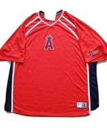 MLB ANAHEIM ANGELS Red Jersey Shirt XL NWT  Officially Lic. - $15.99