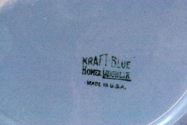 """Homer Laughlin  Craft Blue Oval Platter 13 3/4"""" image 3"""