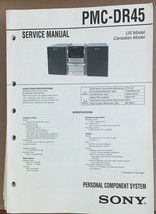 Sony  PMC-DR45 Minidisc Stereo Service Manual *Original* - $18.53
