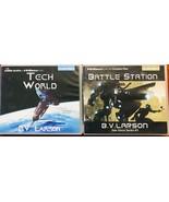 Battle Station and Tech World (Star Force) by B. V. Larson 2 Audiobooks ... - $25.00
