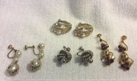 4 Pair Vintage Clip/FS Earrings - $4.99