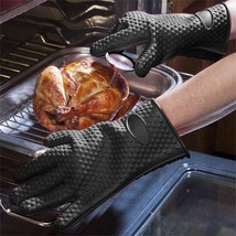 Resistant Barbecue Gloves Silicon Kitchen Barbecue Oven Cooking Glove Bb... - $17.81