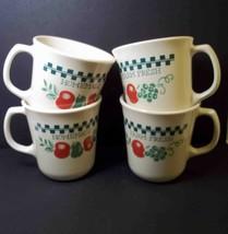 Corelle coffee mugs x 4 FARM FRESH Retired Corning USA  8 oz - $12.55