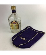 Crown Royal Canadian Whiskey With Cap and Bag 1.75 L Empty - $8.59
