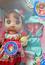 ONCE UPON A BABY ALIVE FOREST LUNA HISPANIC DOLL. 15 sounds,drinks & wets NRFB image 3