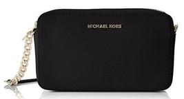 Michael Kors Jet Set Lg E/W Crossbody Bag in Saffiano Leather Black/Gold... - $2.415,35 MXN