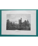 BABELSBERG PALACE near Berling Germany -1890s Victorian Era Print - $19.80
