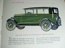1927 Paige 6-45 Original Color Brochure, Paige-Detroit Michigan - $88.11