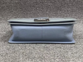 Authentic Chanel Quilted Patent SKY BLUE RARE MEDIUM Boy Flap Bag  image 4