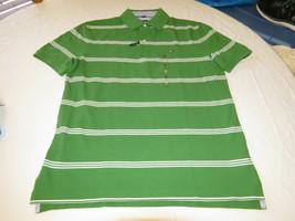 Hombre Tommy Hilfiger Polo Logo 7871410 Enebro 998 VERDE S Corte Clásico - $28.76