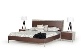 3pcs. Nova Domus Conner Modern Dark Walnut & Concrete Bed - $1,679.00+