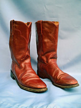 Ladies Western Rust Brown Leather TONY LAMA Cowboy / Cowgirl Boots Size 7 A - $38.75