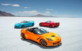 2017 Corvette stingray colors 24X36 inch poster, sports car - $18.99