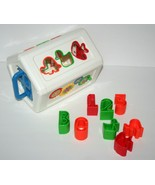 Vintage Shape Sorter, Animals Numbers Letters Key Baby Toy Learning w/ H... - $13.56