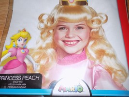 Child One Size Super Mario Brothers Nintendo Princess Peach Costume Wing Blonde - $15.00